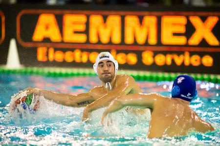 bpm: MILAN,  JANUARY  30:  M. Luongo   ( Bpm Sport Management  )   in game BPM Sport Management - Como Nuoto  on January 30, 2015 , Milan( Italy). Editorial