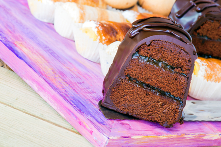 Chocolate cake and pastries