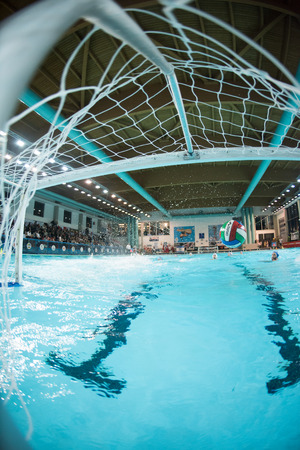 piscina olimpica: MANTOVA - 19 de febrero: en juego BPM Gesti�n Deportiva - Florencia (Italia Premiere League) el 19 de febrero de 2015, de Mantova, Italia.