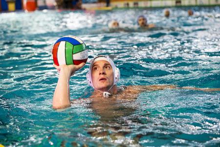 cc: MILAN - APRIL 12: Andrea Razzi (  Bpm Sport Management) in game BPM Sp. Management vs CC Napoli- Italian Water Polo Premier League on April 12, 2016 in Milano, Italy. Editorial