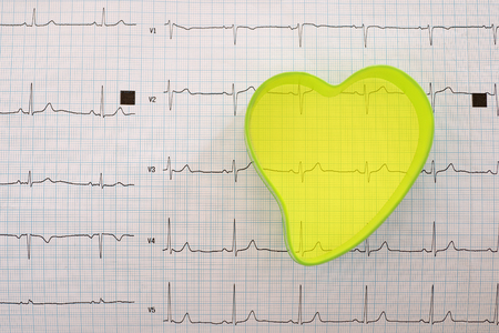 heart form and ecg background