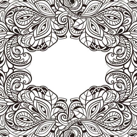 royal wedding: Vintage frame. Decorative vector design elements. Illustration