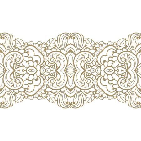 Patrón sin fisuras con los elementos florales Foto de archivo - 75161914