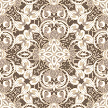 royal wedding: vintage seamless pattern