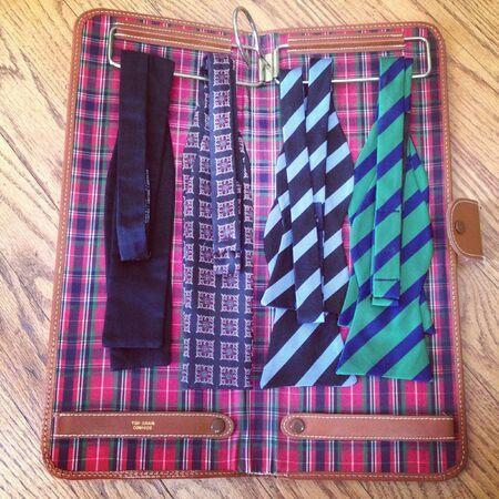 Tie case containing bowties