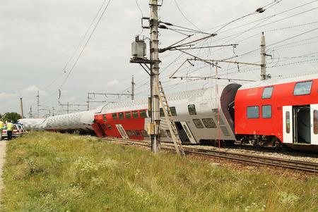 Sterreich, Zugunglück Standard-Bild - 32968448