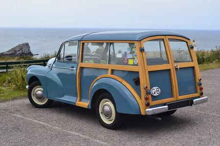 France, Brittany, vintage car Morris Minor