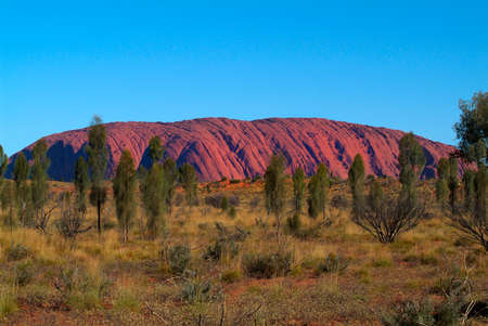 aborigines: Australia, Ayers Rock - Uluru, north east face