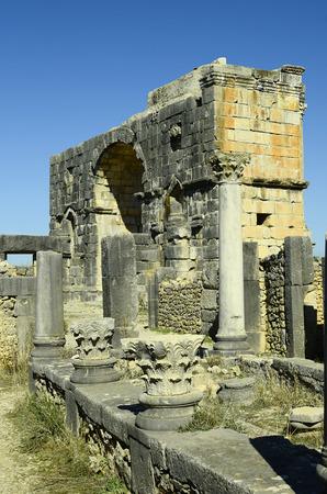 volubilis: Morocco, Unesco world heritage site of ancient Roman settlement Volubilis aka Walili