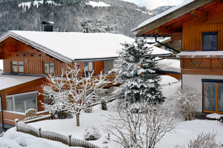 wintery: Austria, homes in wintery Tyrol