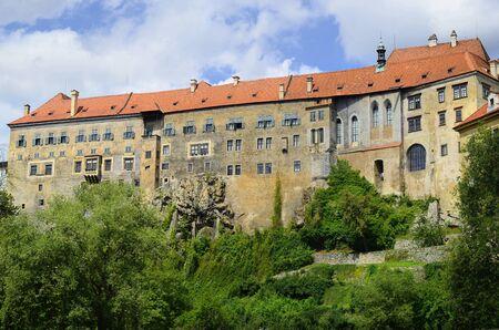 unesco in czech republic: Krumlov, Czech Republic, Cesky Krumlov castle in Bohemia, a Unesco World Heritage site.