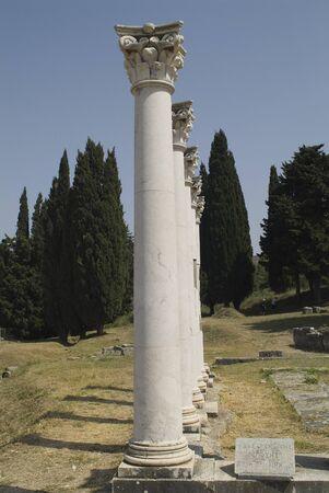 corinthian: Greece, corinthian columns in ancient Asclepius on Cos Island