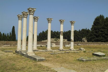 cos: Greece, corinthian columns in ancient Asclepios on Cos Island