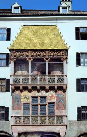 innsbruck: Austria, golden roof - landmark of Innsbruck