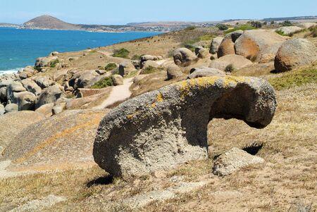 Australia, rock formation on Granite island in South Australia
