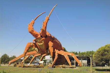 se: Australia, The Big Lobster - landmark and sign for a restaurant in Kingston SE