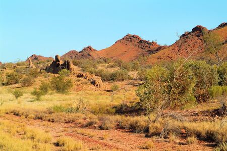 muralla china: Australia, formación rocosa en el oeste de Mac Donnell rango con nombre muralla china a lo largo de la unidad Namatjira