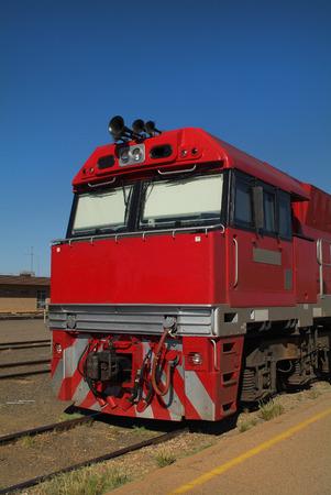 nt: Australia, locomotive of the Ghan railway in Alice springs station Stock Photo