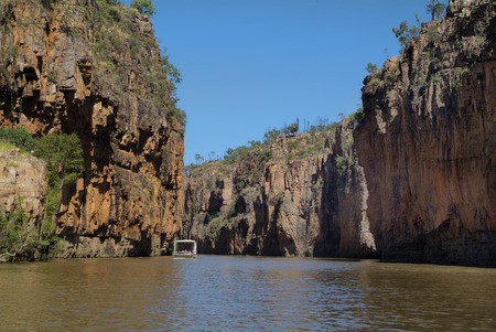 katherine: Australia, excursion boat on Katherine river
