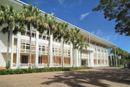 Australia, parliament building in Darwin, capital city of Northern Territory 報道画像