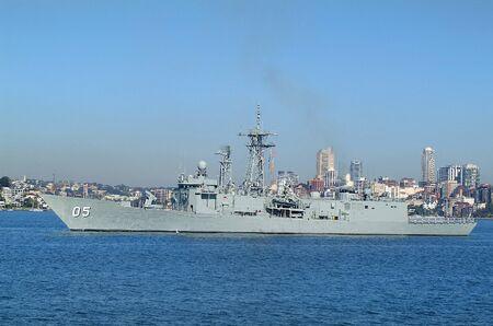 port jackson: Sydney, Australia - May 10th 2010: Worship of Australian navy in Port Jackson harbor