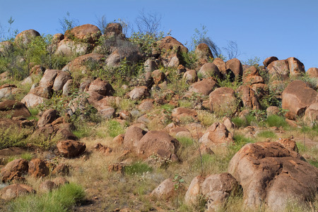 misterious: The Pebbles Northern Territory Australia the smaller kind of misterious rock formation Devil