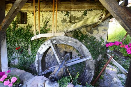 mentioned: Seis, Italy, Malenger mill - mentioned in a document in 16th century Stock Photo