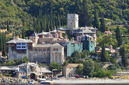 Greece, Mount Athos, Monastery Dochiariou Editorial