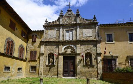 volterra: Italy, old church in the Etruscan Village Volterra Editorial