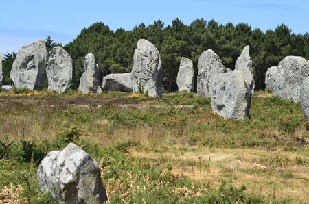 unesco: France, menhires in Unesco world heritage site Carnac