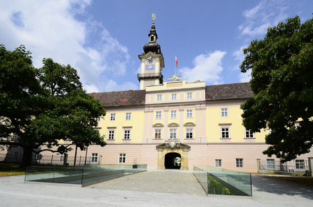 linz: Austria, Linz, government building named Landhaus with accesible tower