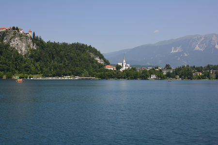 bled: Slovenia, Bled with lake and castle
