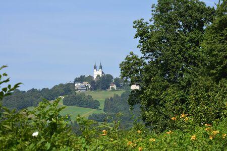 pilgrimage: Austria, pilgrimage church on Poestlingberg in Linz Stock Photo