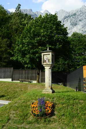 wayside: Austria, wayside shrine in Werfen Stock Photo