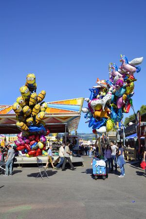 linz: Linz, Austria - October 2nd 2015: Unidentified people on yearly funfair named Urfahraner Markt, market for pleasure and goods
