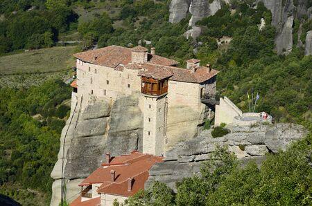 barbara: Greece, Meteora, monastery of Saint Barbara Roussanou Stock Photo