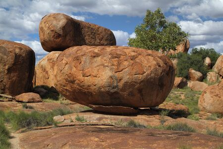 aborigines: Australia, natural landmark and Aborigines sacred site Devils Marbles in Northern Territory