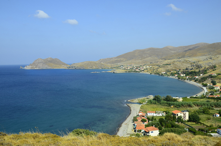 greece shoreline: Greece, Aghios Ioannis at Lemnos Island Stock Photo