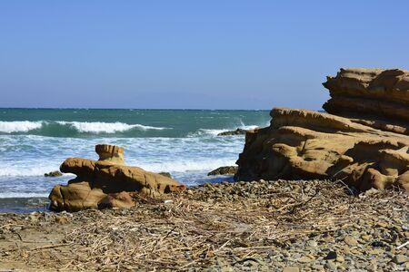 Greece, rock formation on Cape Akrotiri