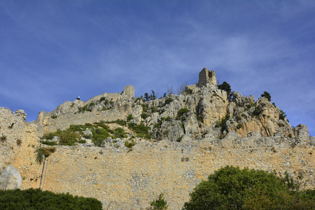 st hilarion: Cyprus, medieval St. Hilarion castle near Kyrenia