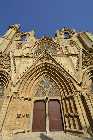 mustafa: Cyprus, main entrance with ornaments of St. Nicholas cathedral aka Lala Mustafa Pasha mosque,