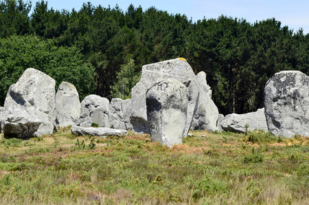 alignement: France, megalith stones in Carnac