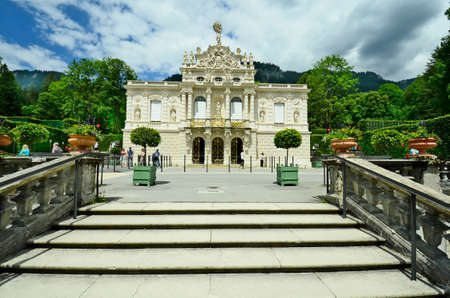 ii: Germany, Linderhof palace in Bavaria one of the castles of former king  Ludwig II