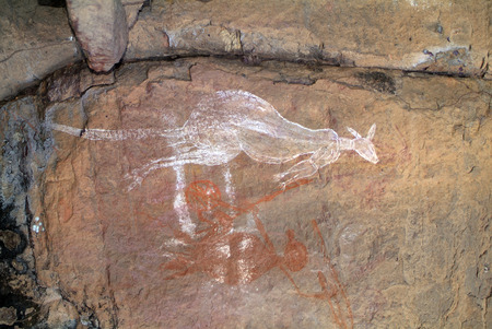 nourlangie: Australia, Aborigene Rock Paintings in Northern Territory
