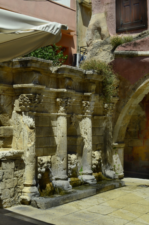 rethymno: Greece, Crete, Raimondi fountain in Rethymno