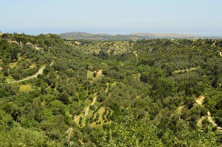 crete: Greece, Crete, landscape with gorge