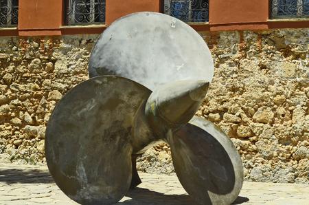crete: Greece, Crete, Chania, ships propeller