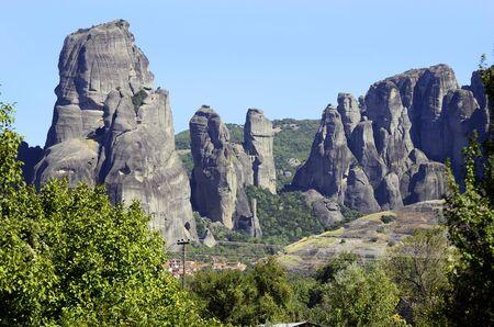 kalambaka: Greece, Kastraki village between Meteora rocks Stock Photo