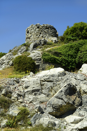 ruin: Greece, Crete, ruin of an old tower in Lassithi