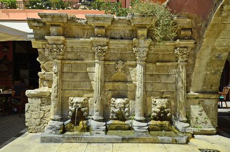 crete: Greece, Crete, Raimondi fountain in Rethymno